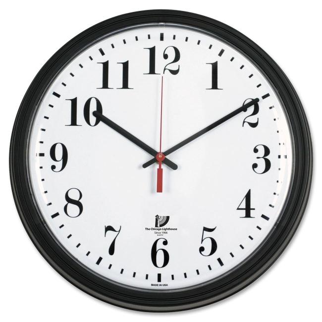 quartz contract clock chicago lighthouse 67700002 ilc67700002 quartzQuartz Clocks