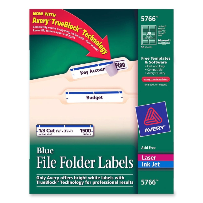 avery file folder labels 5366