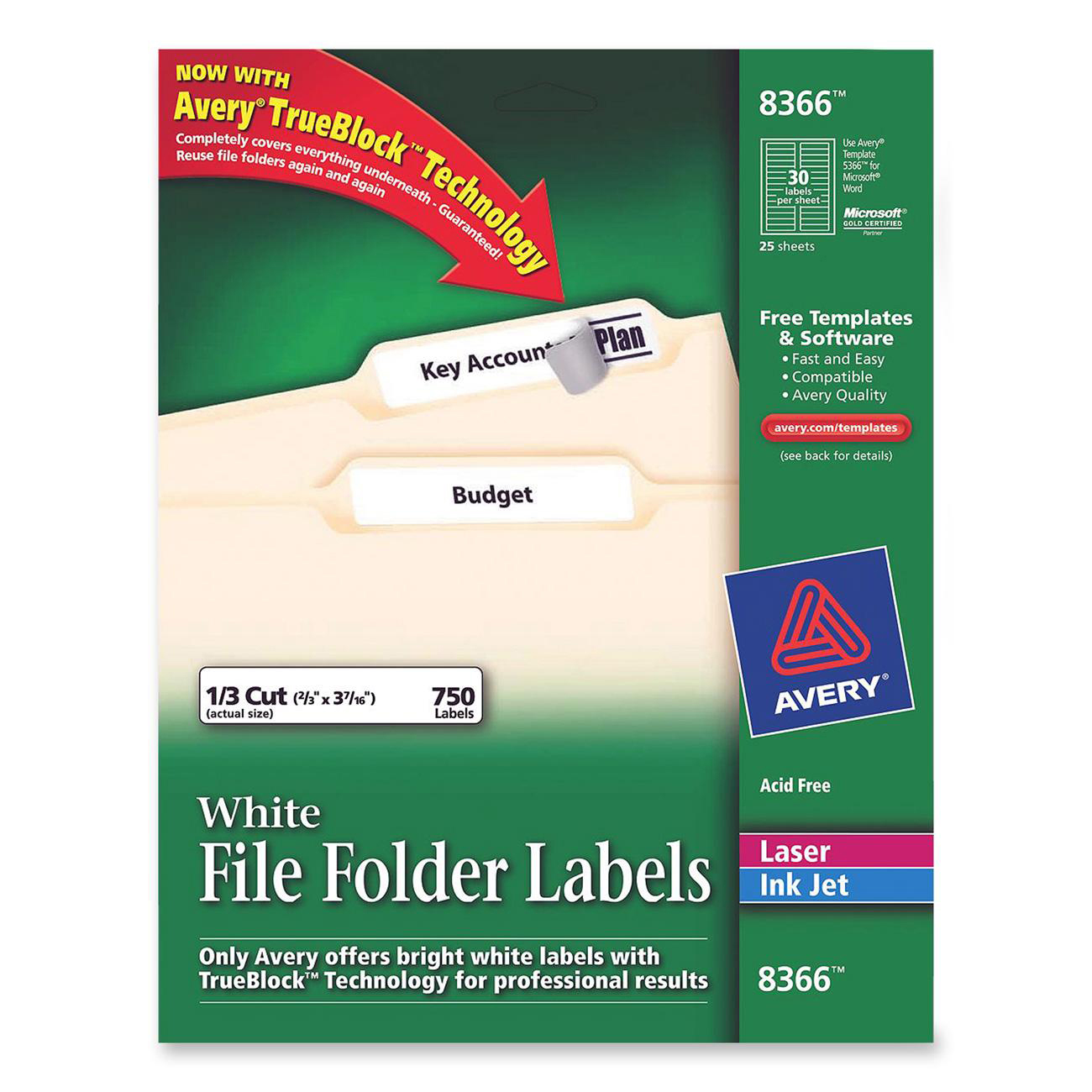 Avery 8366 Template. Avery File Folder Template 5366 Avery File ...