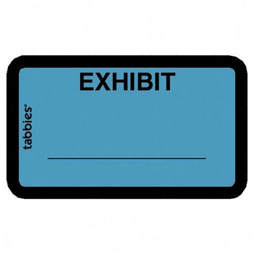 Tabbies legal exhibit label 58091 tab58091 for Digital exhibit stickers