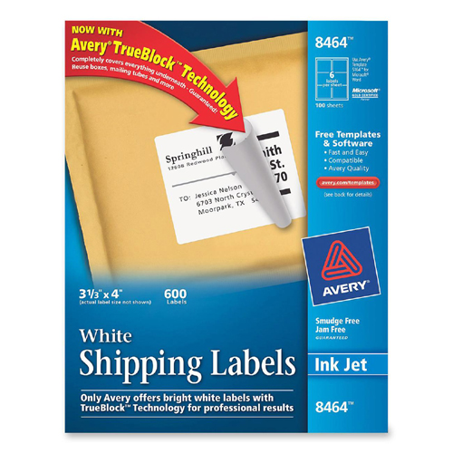 printer With avery large mailing labels