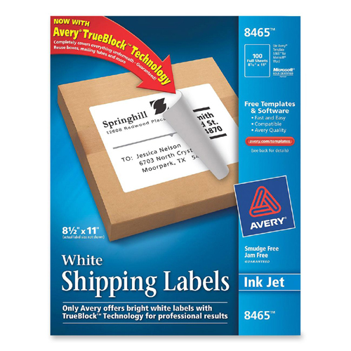 Mailing label avery dennison 8465 ave8465 labels for Smead label templates
