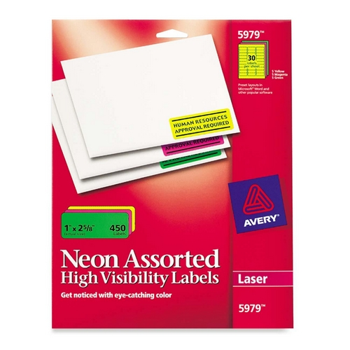 avery permanent durable i d label 6577 ave6577