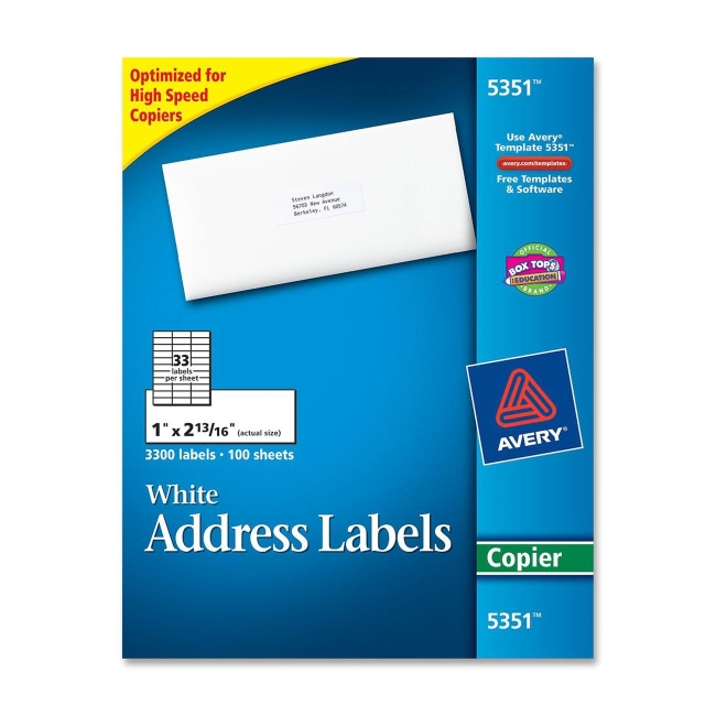 Printer for Package address label template