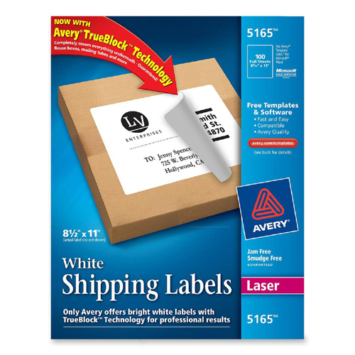 Mailing label avery dennison 5165 ave5165 labels for Avery dennison label templates