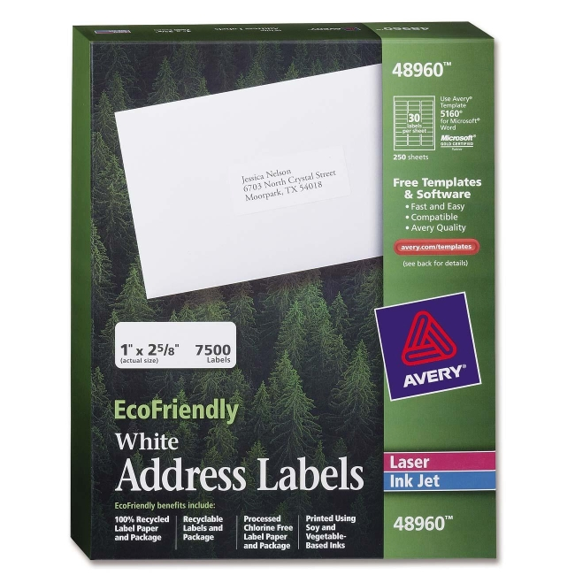 Avery EcoFriendly Address Label 48960 AVE48960