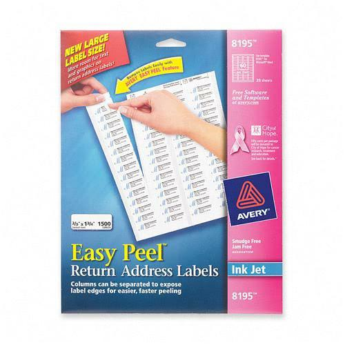 Avery Easy Peel Return Address Label 8195 AVE8195