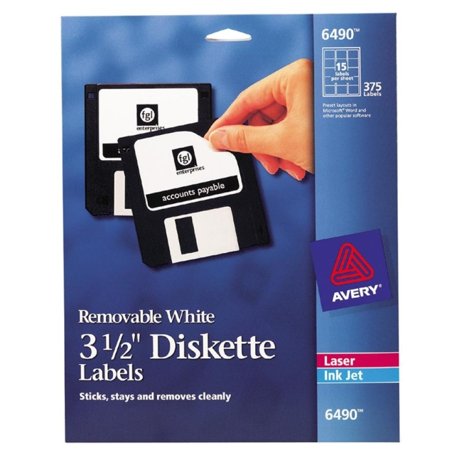 diskette label avery dennison 6490 ave6490 labels
