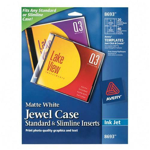 dvd jewel case insert template - printer