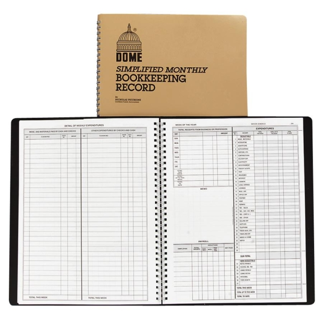 Monthly Bookkeeping Record Dome 612 Dom612 Forms Amp Record