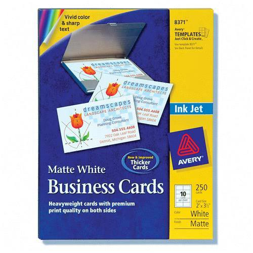 Laser inkjet business card chartpak ml 8550 macml8550 for Avery membership card template