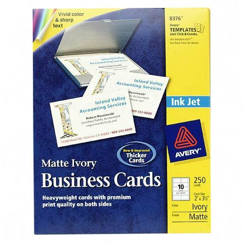 Avery Perforated Inkjet Business Card 8376 AVE8376