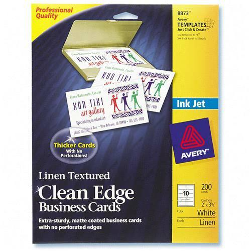 clean edge laser business card avery dennison 5871 ave5871. Black Bedroom Furniture Sets. Home Design Ideas