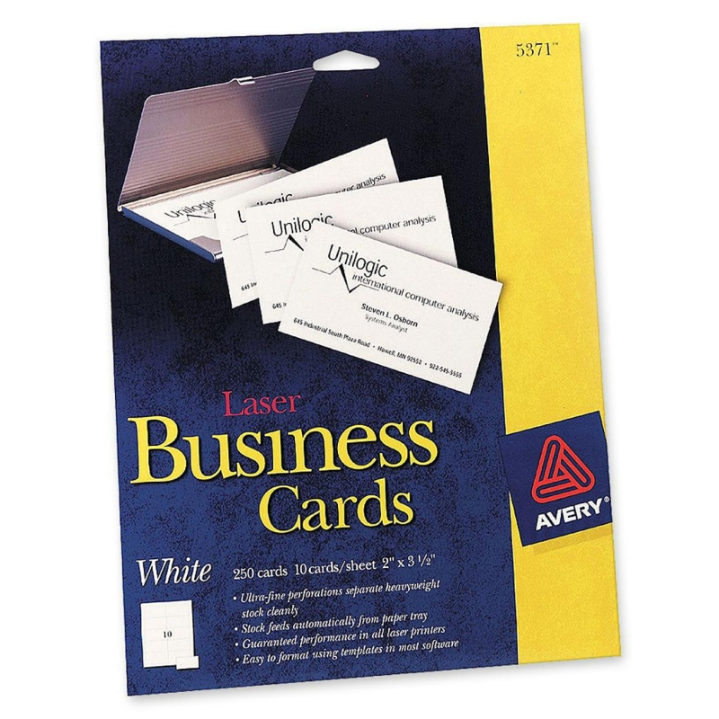 Laser perforated business card avery dennison 5371 ave5371 reheart Images