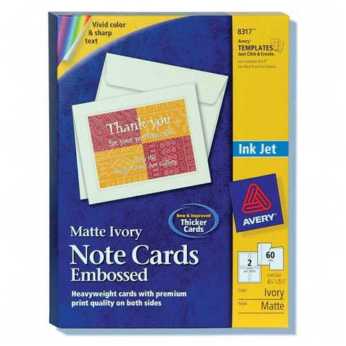 Printer for Avery note cards