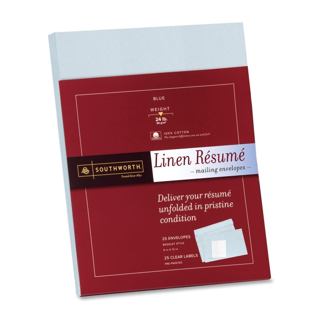 linen resume mailing envelopes southworth rf9qln sourf9qln