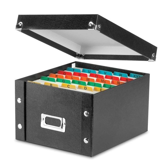 Find It Idea Stream Snap-N-Store Index Card Box with Label Holder SNS01647 IDESNS01647