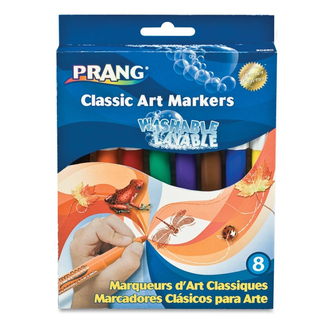 Prang Prang Conical Tip Washable Markers 80680 DIX80680