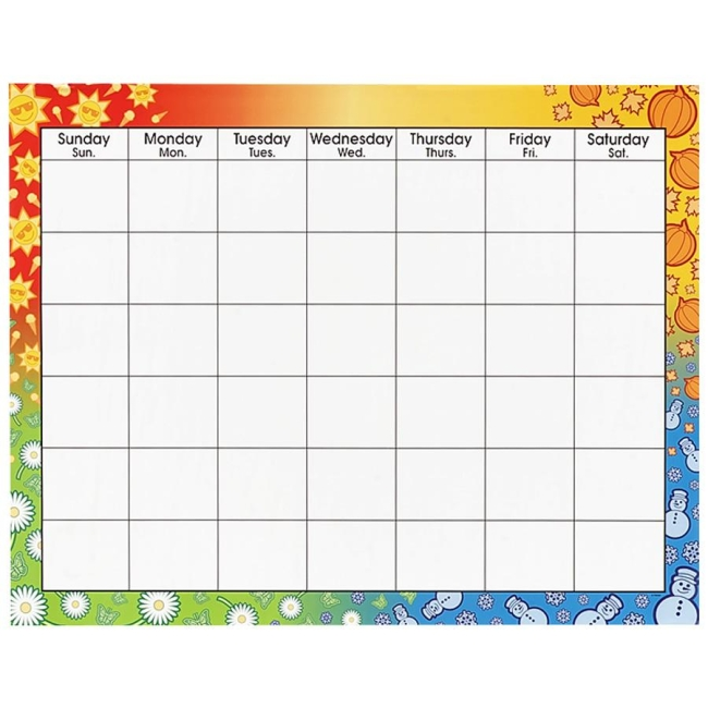 off blank calendar chart trend t1170 tept1170 large wipe off blank ...