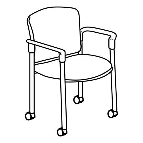 HON 4070 Series Mobile Guest Chair 4075NT10T HON4075NT10T