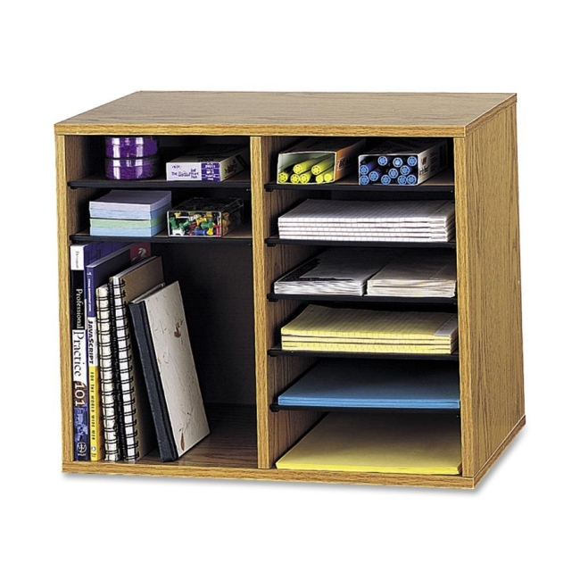 Safco Adjustable 12-Compt. Literature Organizer 9420MO SAF9420MO