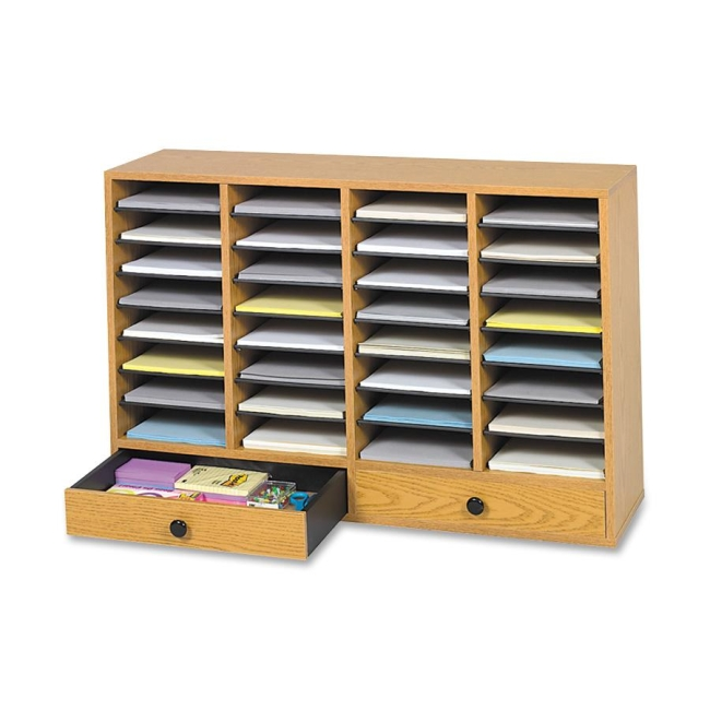 32 Compartments Adjustable Literature Organizer Safco 9494MO SAF9494MO