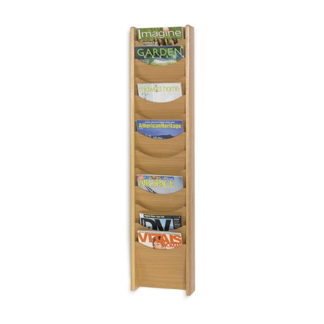 Safco 12 Pocket Wall Mount Literature Display 4331MO SAF4331MO