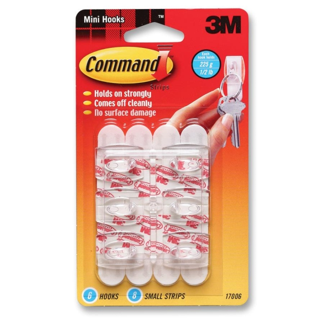3M Command Mini Removable Hook 17006 MMM17006