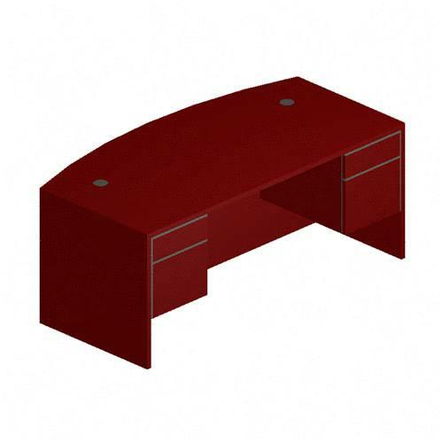 HON 10500 Series Double Pedestal Bow-Top Desk 10595NN HON10595NN