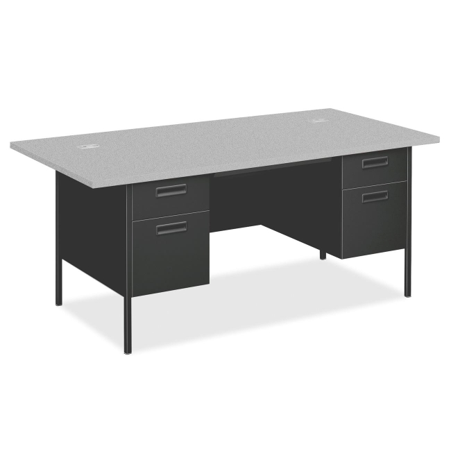 HON Metro Classic Double Pedestal Desk with Overhang P3276G2S HONP3276G2S
