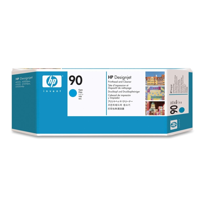 HP 90 Cyan Printhead and Cleaner C5055A HEWC5055A No. 90