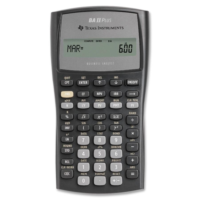 Texas Instruments Financial Calculator BAIIPLUS TEXBAIIPLUS