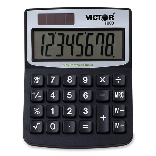 Victor Technology Mini Desktop Calculator 1000 VCT1000