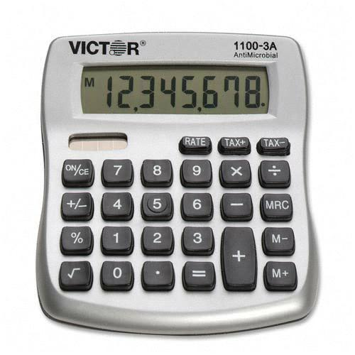 Victor Technology AntiMicrobial Mini Desktop Calculator 11003A VCT11003A