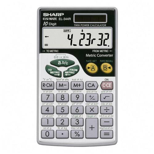 Sharp Metric Calculator EL344RB SHREL344RB
