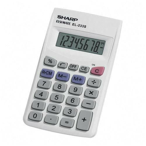 Sharp Pocket Calculator EL233SB SHREL233SB