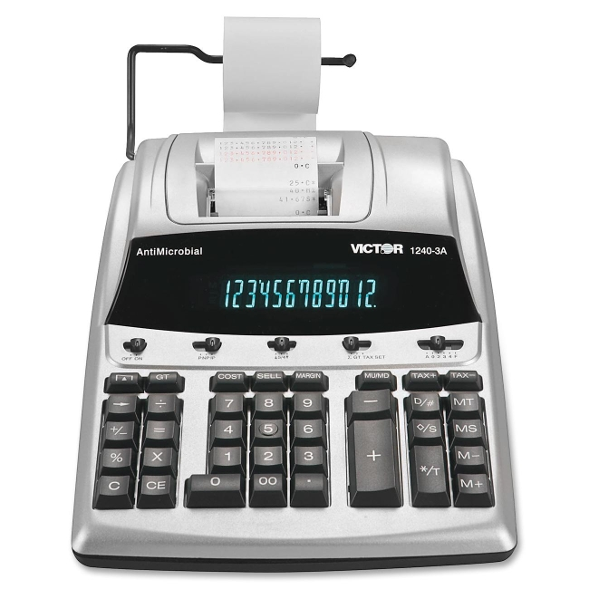 Victor Technology AntiMicrobial Commercial Printing Calculator 12403A VCT12403A