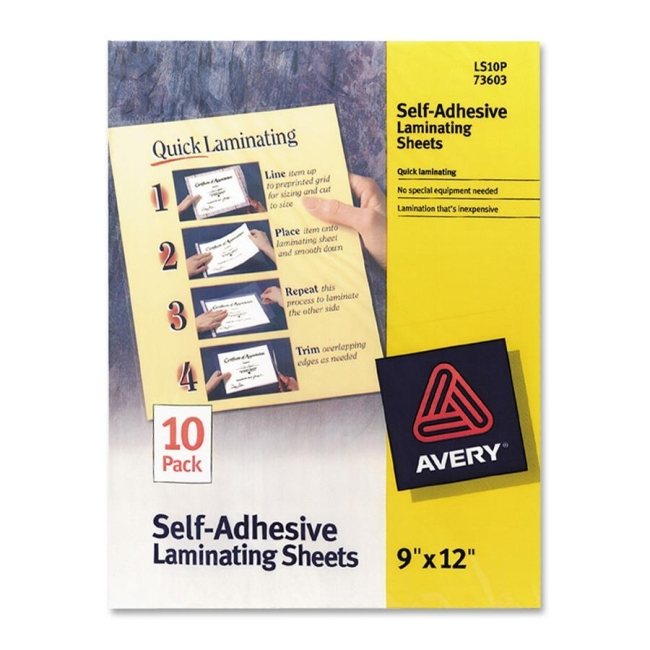 Avery Self-Adhesive Laminating Sheets 73603 AVE73603