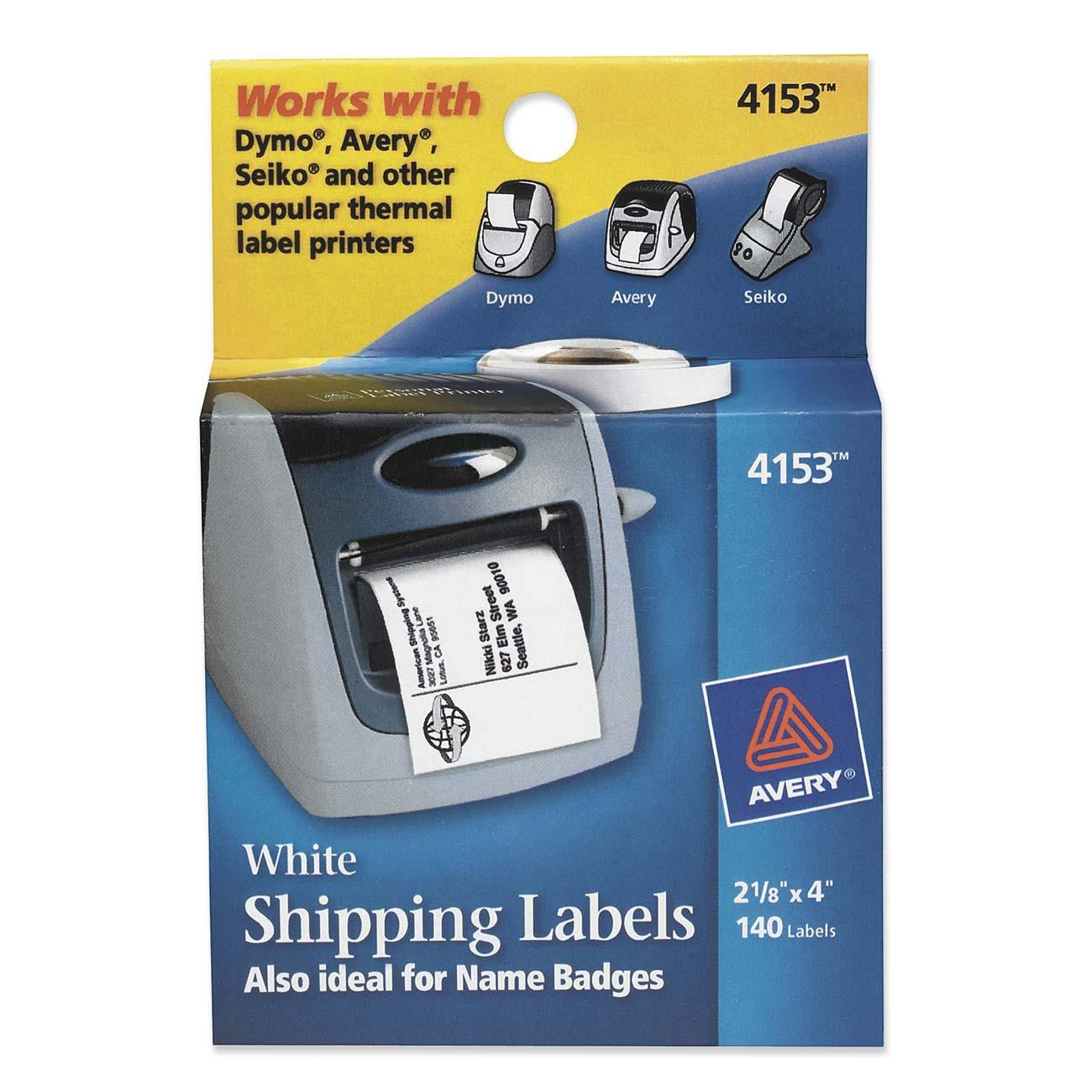 Custom Card Template avery label printer : Label Printer Mailing Label Avery Dennison 4153 AVE4153 Labels