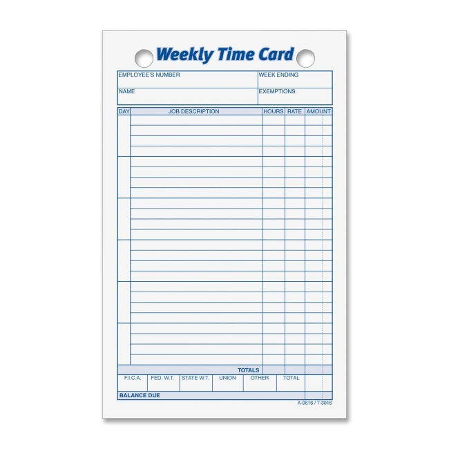 employee timecards