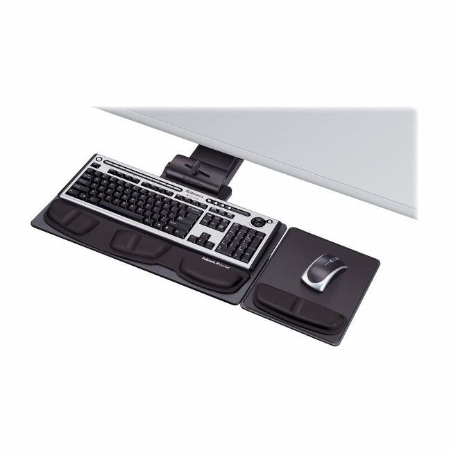 Fellowes Deluxe Keyboard Drawer with Soft Touch Wrist Rest 8036101 FEL8036101