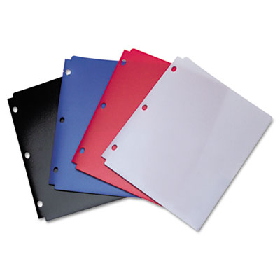 Wilson Jones Snapper Twin Pocket Poly Folder, 8-1/2 x 11, Assorted Colors ACC40023 A7040023D