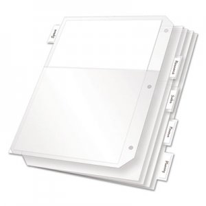 Cardinal Poly Ring Binder Pockets, 11 x 8 1/2, Clear, 5/Pack CRD84010 84010