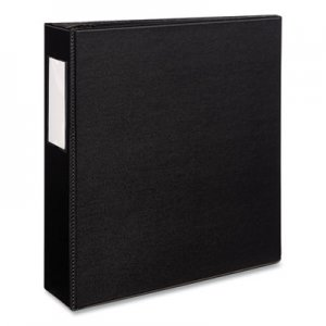 "Avery Durable Binder with Two Booster EZD Rings, 11 x 8 1/2, 3"", Black AVE08702 08702"