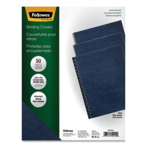 Fellowes Classic Grain Texture Binding System Covers, 11 x 8-1/2, Navy, 50/Pack FEL52124 52124