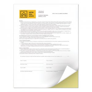 Xerox Revolution Digital Carbonless Paper, 8 1/2 x 11, White/Canary, 5,000 Sheets/CT XER3R12420 3R12420