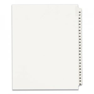 Avery Avery-Style Legal Exhibit Side Tab Divider, Title: 26-50, Letter, White AVE01331 01331