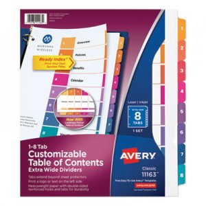 Avery insertable big tab dividers 5 tab 11 1 8 x 9 1 4 for Avery template 11447