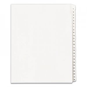 Avery Allstate-Style Legal Exhibit Side Tab Dividers, 25-Tab, 1-25, Letter, White AVE01701 01701