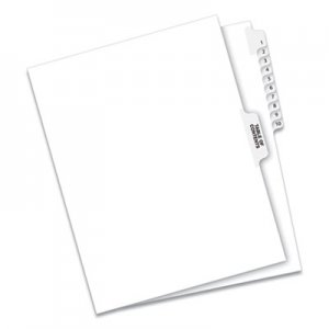 Avery Avery-Style Legal Exhibit Side Tab Divider, Title: 1-10, Letter, White AVE11381 11381